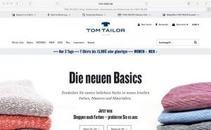 Bild Tom Tailor Webshop