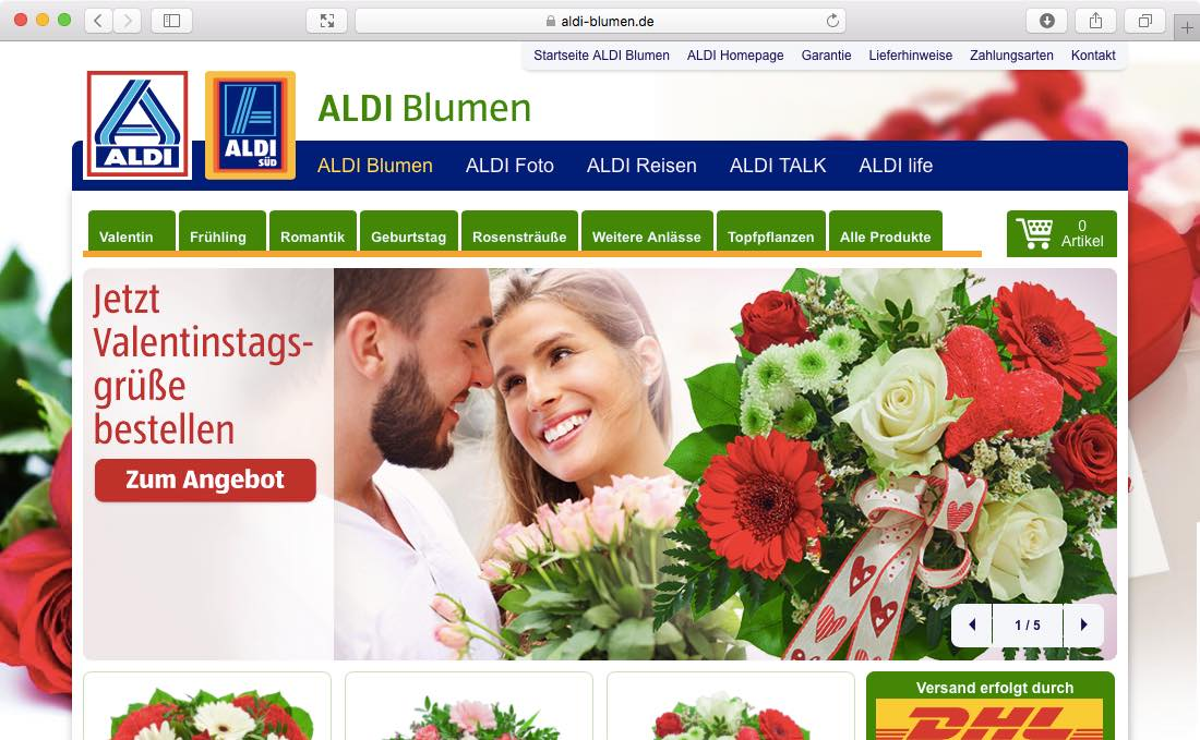 aldi blumen dr clasen ihr ecommerce partner. Black Bedroom Furniture Sets. Home Design Ideas